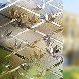 Rabbitgoo Pellicola Castano Per Finestre e Vetri-Decorativa,Autoadesive,Anti-UV,Controllo di Calore, Privacy 44.5cm x 200cm