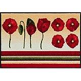 Salonloewe Fußmatte waschbar Flower delight Dancing Poppies 50x75 cm SLD1152-050x075
