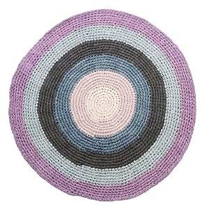 h kel teppich kinderteppich rund aus baumwolle pastell. Black Bedroom Furniture Sets. Home Design Ideas