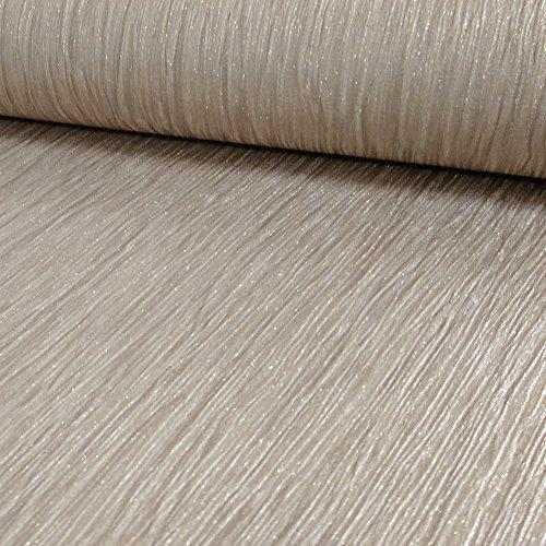 Debona Crystal Plain Pattern Textured Stripe Glitter Motif Vinyl Wallpaper (Gold 9002) by DEBONA
