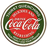 COKE - Thirst Quenching Tin Sign 12 x 12in by Desperate Enterprises Inc
