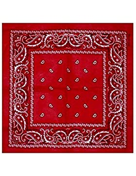 BOOLAVARD 100% algodón 1pcs, 6pcs o 12pcs paquete Bandanas con el color Original de patrón de Paisley de opción...