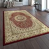 Paco Home Orientteppich Traditionell Klassische Optik Persisch Ornamente Beige Rot, Grösse:80x150 cm