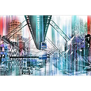 Posterlounge Acrylglasbild 30 x 20 cm: Wuppertal Collage von Städtecollagen – Wandbild, Acryl Glasbild, Druck auf Acryl…