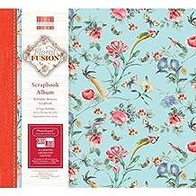 """First Edition Floral Fusion FSC bloc de papel, multicolor, papel, multicolor, 8x8"""" Scrapbook Album"""