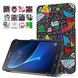 DETUOSI Galaxy Tab A 7.0'' Tasche, Flip Cover PU Leder Tasche Case Schutzhülle für Samsung Galaxy Tab A (2016) 17,8 cm (7 Zoll) SM-T280 Hülle Ledertasche Skin Schale (Eule)