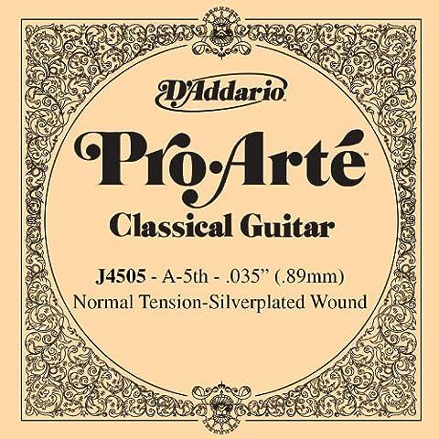 D'Addario J4505 - Cuerda para guitarra clásica de nylon, 5ª cuerda en La, 0.35 (tensión media)