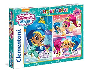 Clementoni- Puzzle Triple 49 Piezas, Shimmer and Shine (25218)