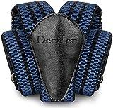 Decalen Hosenträger für Herren breit extra starken Clips Y Form Lang Eine Größe Passt Alle Männer und Damen Verschiedenen Farben (Blau Schwarz)