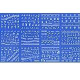 RAIN QUEEN 12 Motif Autocollant à Ongle Nail Art Sticker Design Décalcomanie Pour Manucure Musique