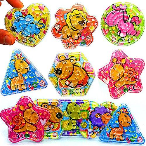 German Trendseller® - 12 x Kinder - Knobel - Spiele Mix ┃ Tiere ┃ Kindergeburtstag ┃ Mitgebsel ┃ 12 Stück (Kleidung Puzzle-stück)