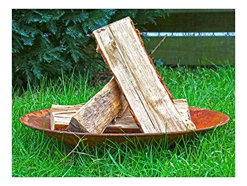 Metall Feuer-Schale 47cm Designer Rusty-Style Pflanz-Schale Terrassen-Ofen Garten-Kamin Feuer-Korb Grill-Feuer Edelrost