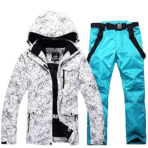 2018 Brandneu Skijacke Wasserdicht Skianzug Schneeanzug Winter Skifahren Unisex Skiset Blau M
