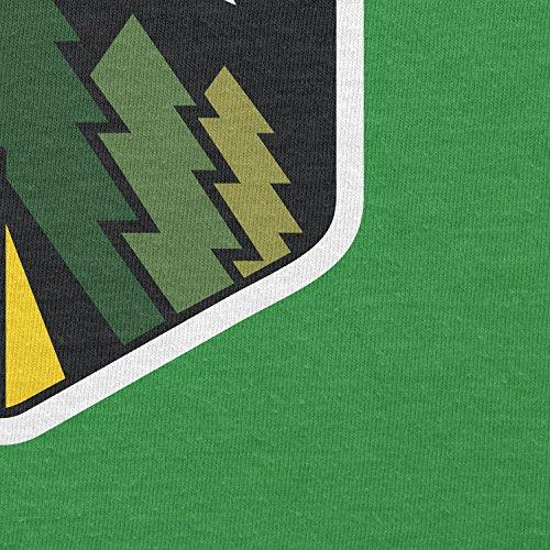 Texlab–Family Camping Forest Moon–sacchetto di stoffa Verde