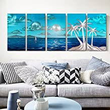 la verniciatura dei metalli puro paesaggio in alluminio lucidato a mano, della pittura del metallo,murale decorativo, decorazioni per la casa-spiaggia di sabbia 23.6×59 pollice