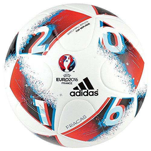 adidas Euro16 Fracas Top Replique Fußball, White/Bright Blue/Solar Red/Silver Metallic, 5 -