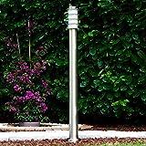 Außenleuchte Tunes - Pollerleuchte aus Edelstahl – 110cm hoch – Garten Stehlampe - schmale Wegeleuchte für den Garten, das Beet oder den Eingangsbereich - Stehlampe außen – 1xE27-Fassung – 40W