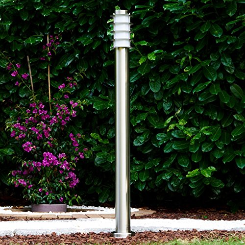 Außenleuchte Gartenleuchte Wegeleuchte Tunes 110cm hoch in silber