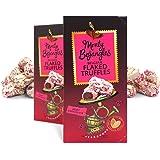 Monty Bojangles Belgian Ruby Chocolate Luxury Flaked Truffles, 2 x 100g Gift Boxes