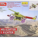 [Sponsored]Educational Toys And Building Blocks – Helicopter And Fighter Robotics Toy For Kids/ Line Block Toy Making/ Brain And Mind Development Toys/ Construction Toys For Kids/ Creative Toy Making For Children/Educational Learning Toys/ Age - 7 T