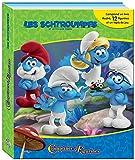PHIDAL–3Schlümpfe Koffer Buch mit 12Figuren + Spielmatte, 9782764342473, Mehrfarbig