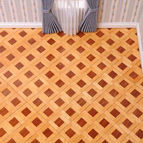 Piastra parquet (dimensioni: singolo quadrato = 2,5cm x 2,5cm) per la casa delle bambole