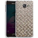 Samsung Galaxy A3 (2016) Housse Étui Protection Coque Acier Look Métal