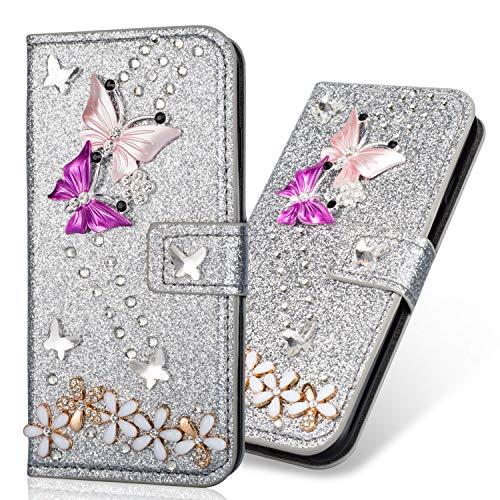 Folio Magnetverschluss Sparkle Bling Glitter Diamant für Samsung S10