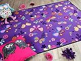 Snapstyle Kinder Spiel Teppich Schmetterling Lila in 24 Größen