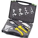 Mallb Multifunktions-Winkelschneider-Kit Professionelle Multi-Winkel-Gehrungsschere Handwerkzeuge 45 Grad bis 135 Grad mit Klingen Schraubendreher-Werkzeuge zum Schneiden