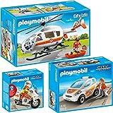 Playmobil City Action 3er Set 5543 5544 6686 Notarzt-Fahrzeug