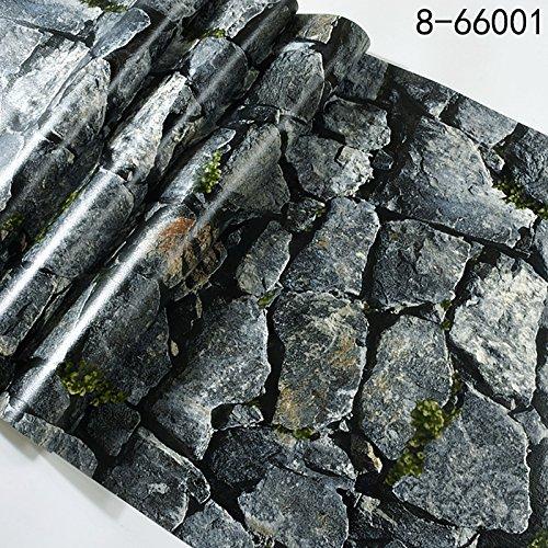 JSLCR Retrotapeten antike chinesische stereoskopische 3D Wallpaper Felsen Restaurant Café Hintergrundbild,66001