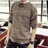 Spritech (TM) hombre Otoño tejer Fashion cuello redondo Pullover Sweater, marrón