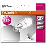 OSRAM Ampoule LED pour Réfrigérateur T26, Culot E14, 2,3W Equivalent 20W, dépolie, Angle : 160°, Blanc Chaud 2700K, Lot de 9