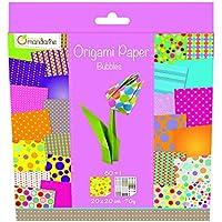 Avenue Mandarine - Carta per origami, 60 fogli, 20 x 20 cm, colore: Bolle multicolore