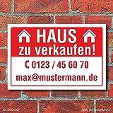 WERBEPUNKT. Schild Haus zu verkaufen Wetterfest Alu-Verbund 3 mm 600 x 400 mm