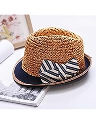 Ocio Mujer rayas corto cono mariposas soulful volumen hem playa oficial de protección solar sombrero de paja