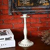 Basong Candelero para cena romántica con velas con una cabeza de hierro decoración de la mesa de boda banquete blanco