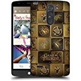 Official HBO Game Of Thrones All Houses Golden Sigils Hard Back Case for LG G3 Stylus / D690N / D690