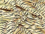 Tiger Animal Print Velours Kleid Stoff gold &