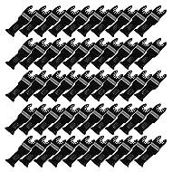 cnbtr 32x 50mm schwarz kohlenstoffreicher Stahl und M42HSS Quick Release oszillierendes Sägeblatt Multi Tools Set 50Stück