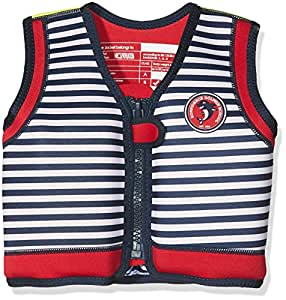 Konfidence The Original Children's Swim Jacket, Multicoloured (Hamptons Navy Stripe), 4-5 years