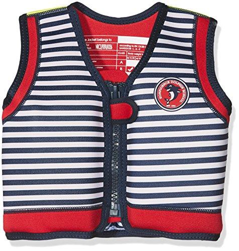 Die original Konfidence Unisex-Kinder Schwimmweste,  Mehrfarbig (Hamptons Navy Stripe), 18 monate-36 Monate