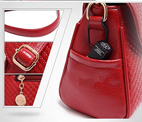 VOLSGEAT Borsa Messenger, Red2 (rosso) - 202B Black