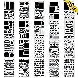 Zeichenschablonen,Jwlife 20 StückBullet Journal Schablone Set für Bullet Journal, Scrapbooking, Karten und DIY Craft Projekte