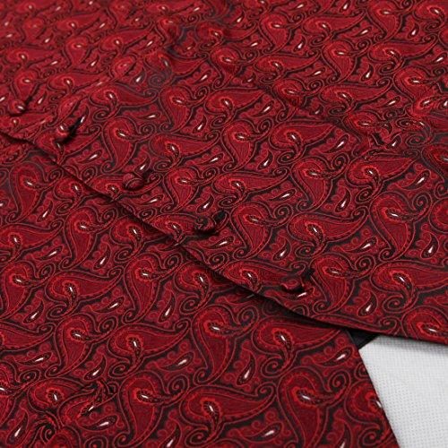 EGC1B07-08 Mens Paisley Geschenke für Freund Weste Microfiber Westen von Epoint EGC1B08D-Rot