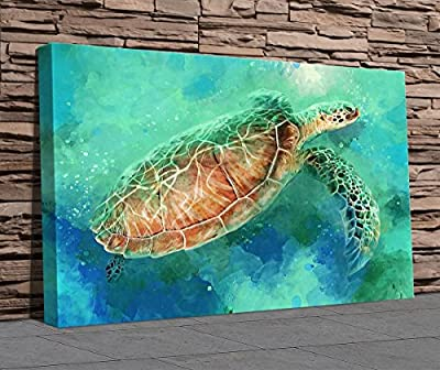 Sea Turtle Painting Canvas Print - Large Canvas - Wall Art - A3 - A2 - A1