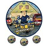 Tortenaufleger Fototorte Oblate Tortenbild Geburtstag eßbar Motiv: Feuerwehrmann Sam 09 (Oblatenpapier)