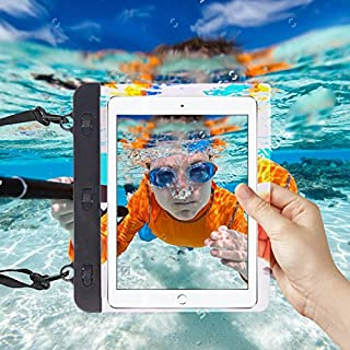 7/8 Inches Black Universal Transparent Tablet, Passport, Money Waterproof Bag Underwater Protection Case Cover for Aluratek CINEPAD AT208F