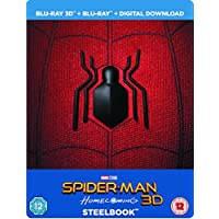 Spider-Man Homecoming 3D + 2D Limited Edition Steelbook + Resin Magnet + Comic Book / Import / Region Free Blu Ray